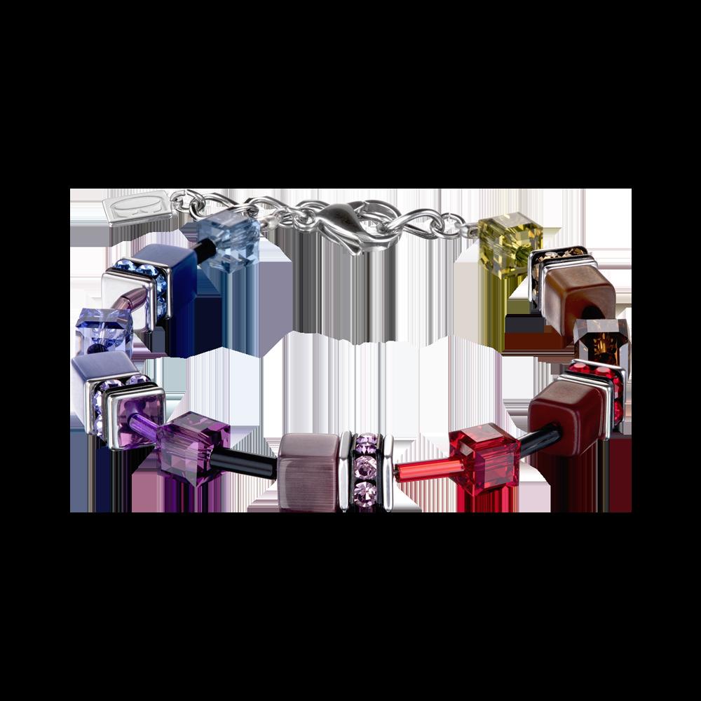 Armband GeoCUBE® multicolour rainbow dark