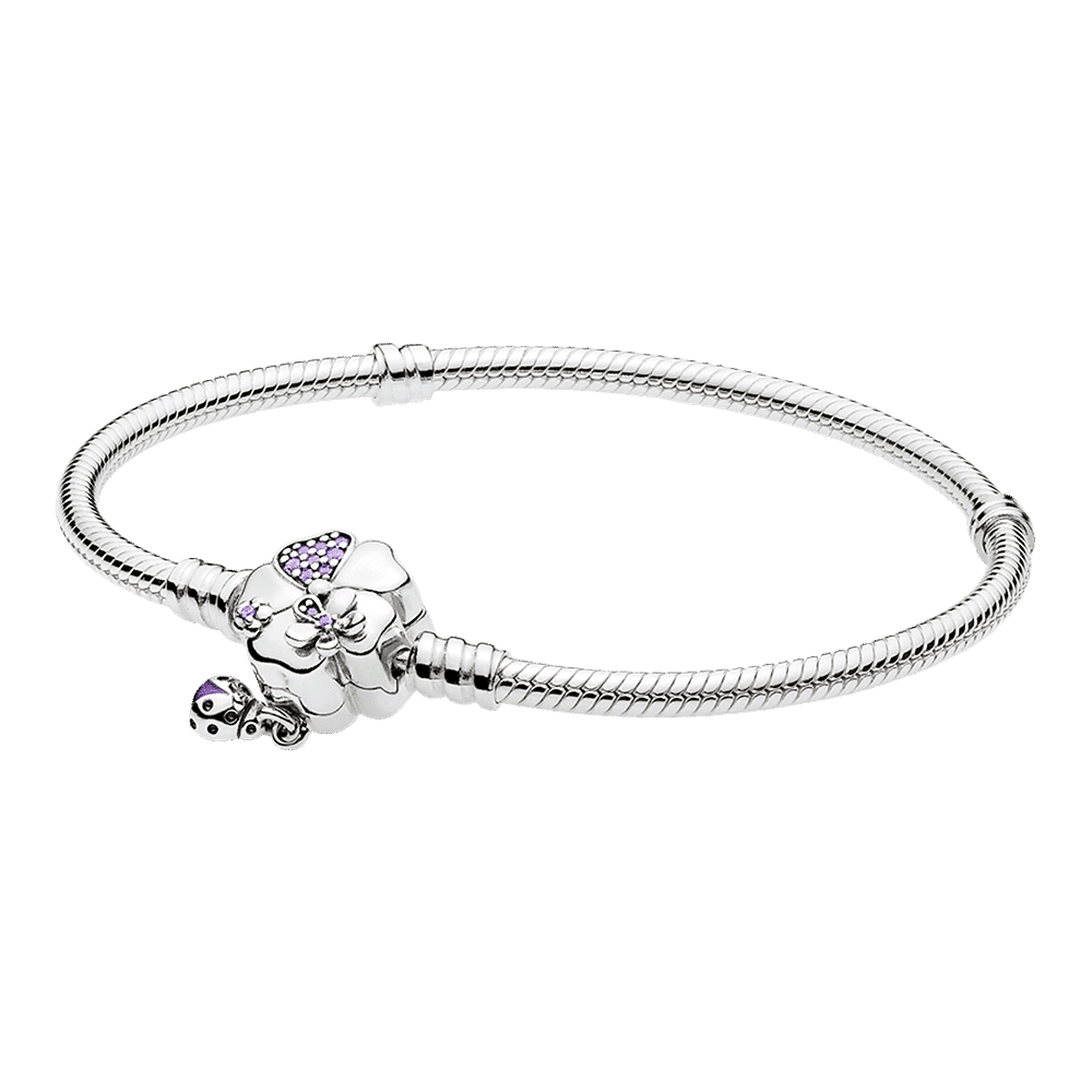Armband Moments Silver Bracelet, Wildflower Meadow Clasp